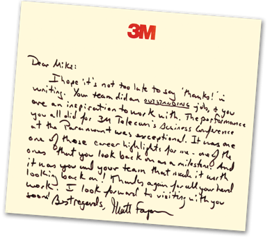GRAPHIC: Recommendation letter from 3M Corporation